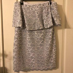 Gianni Bini Blue and White Lace Dress for Events